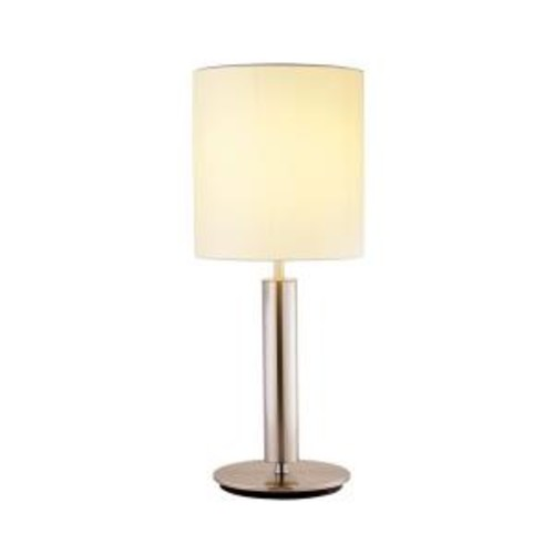 Adesso Hollywood 27 in. Satin Steel Table Lamp