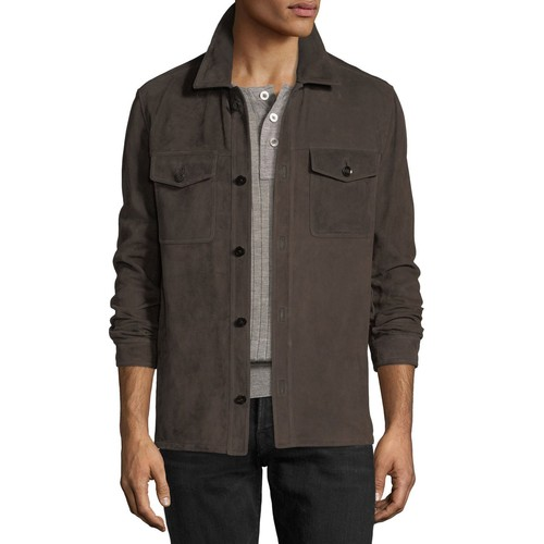 TOM FORD Lightweight Suede Shirt Jacket