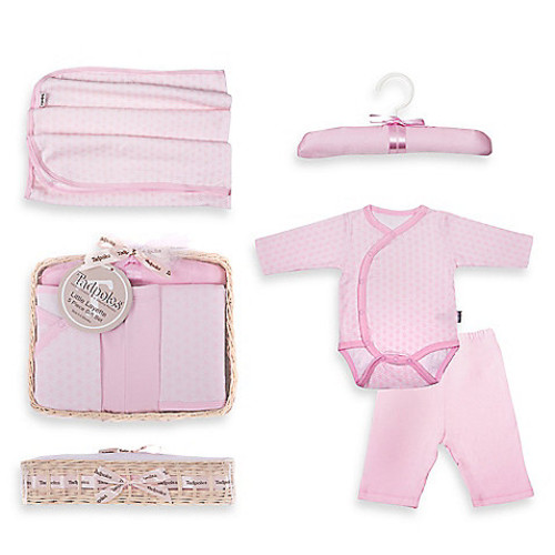 Tadpoles by Sleeping Partners Starburst Size 6-12M 5-Piece Layette Baby Gift Set in Pink