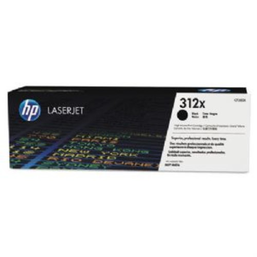 HP 312X, (CF380X-D) 2-pack High Yield Black Original LaserJet Toner Cartridges