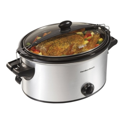 Hamilton 6 Qt. Oval Beach Stay Or Go Slow Cooker (33262)