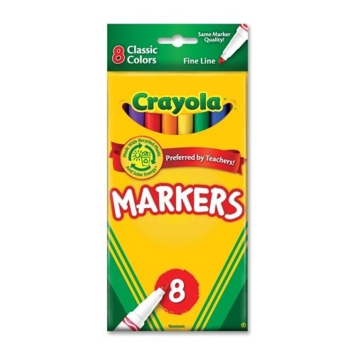 Crayola Fine Line Markers-Classic Colors 8/Pkg