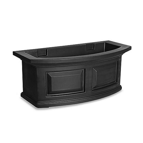 Mayne Nantucket 2-Foot Window Box in Black
