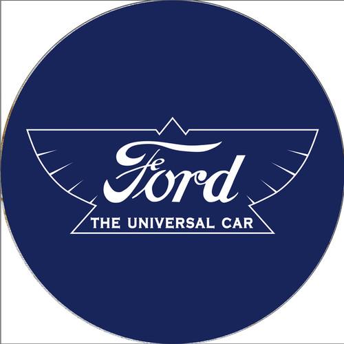 Ford Chrome Ribbed Bar Stool - The Universal Car