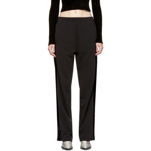 MM6 MAISON MARTIN MARGIELA Black Velvet Panel Lounge Pants