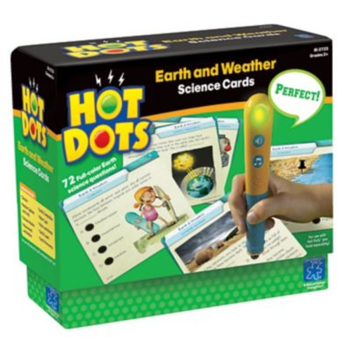 Educational Insights Hot Dots Earth & Weather Card Set