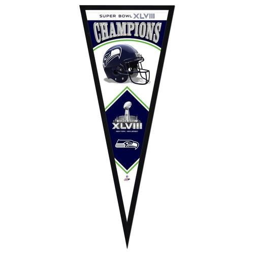 Seattle Seahawks Super Bowl XLVIII Champions Framed Pennant