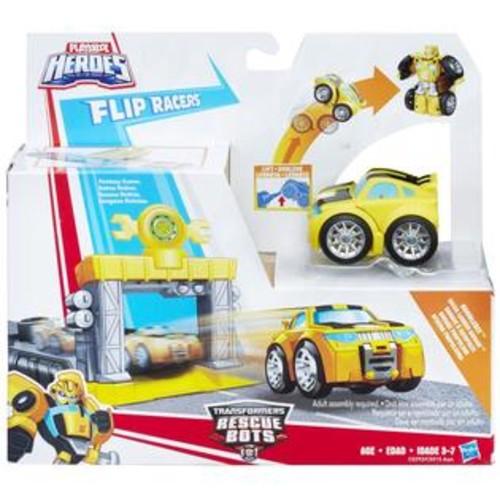 Hasbro Playskool Heroes Transformers Rescue Bots Flip Racers Bumblebee Quick Launch Gar