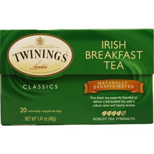 Twinings Classics Black Tea Naturally Decaffeinated Irish Breakfast -- 20 Tea Bags