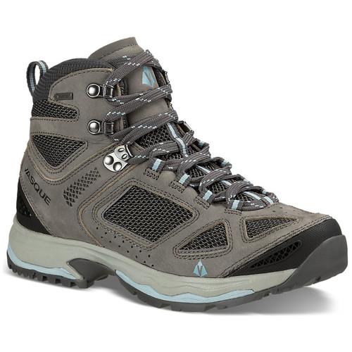 VASQUE Womens Breeze III GTX Hiking Boots, Wide, Gargoyle/Stone Blue