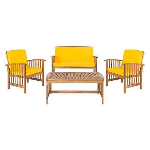 Rocklin 4-Pc Outdoor Lounge Set, Yellow