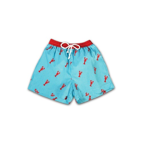 Lobsters Gingham Swim Trunk