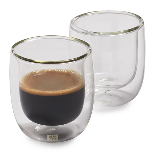 Zwilling J.A. Henckels Sorrento Double Wall Espresso Glasses, 2.7 oz., Set of 2