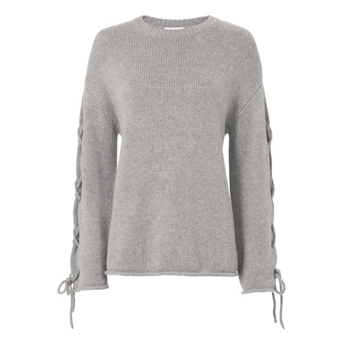 SEE BY CHLOÉ Grey Tie Sleeve Sweater