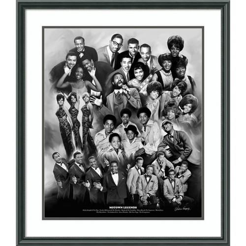 Framed Art Print 'Motown Legends' by Wishum Gregory 27 x 31-inch