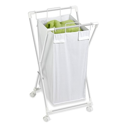 Honey-Can-Do HMP-01385 Rolling Laundry Sorter With Removable Bag, Single Bag