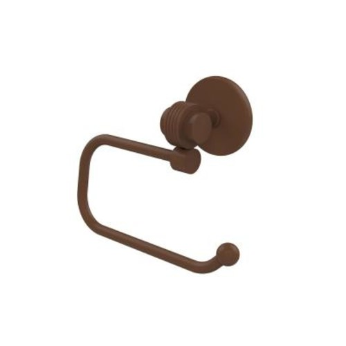 Satellite Orbit Two Collection Euro Style Single Post Toilet Paper Holder with Groovy Accents in Antique Bronze