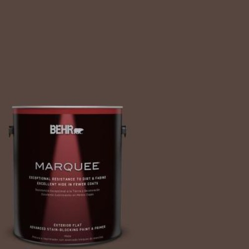 BEHR MARQUEE 1-gal. #PMD-91 Iced Espresso Flat Exterior Paint