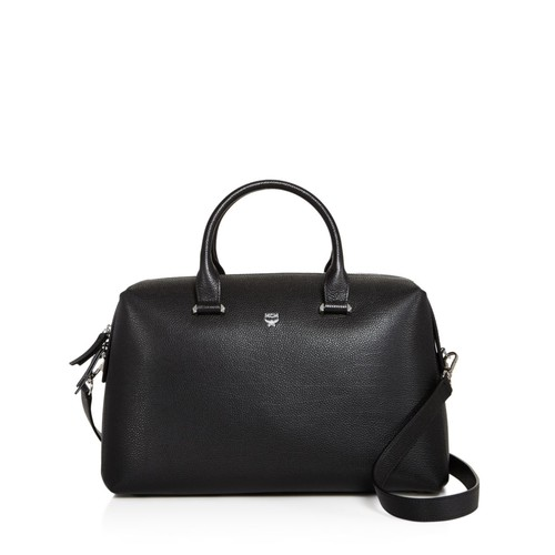 MCM Ella Boston Large Leather Satchel