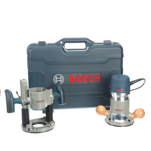 Bosch 12 Amp 2-1/4 HP Peak Corded Variable Speed Plunge and Fixed-Base Router Kit with Hard Case