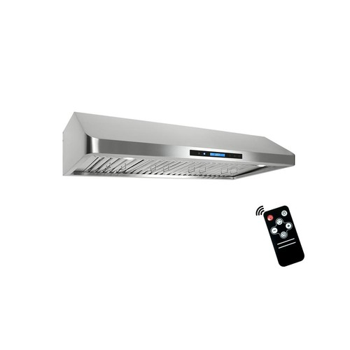 Cosmo 48 in. Ducted Under Cabinet Range Hood in Stainless Steel with Touchscreen, LED Lighting and Remote Control