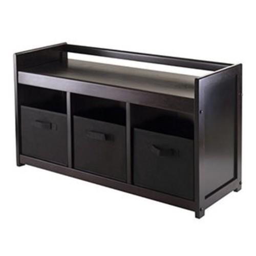 Addison Brown 4-piece Storage Bench