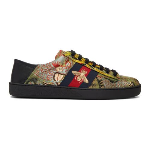 GUCCI Multicolor Jacquard New Ace Sneakers