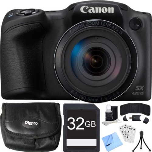 Canon PowerShot SX420 IS (Black) 20-megapixel camera with 42X optical zoom and Wi-Fi