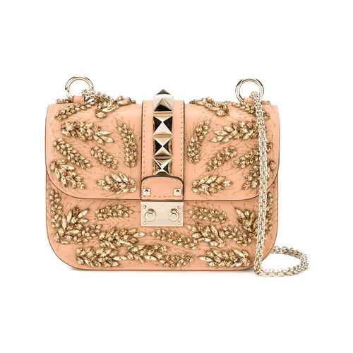 VALENTINO GARAVANI 'Glam Lock' Embroidered Shoulder Bag