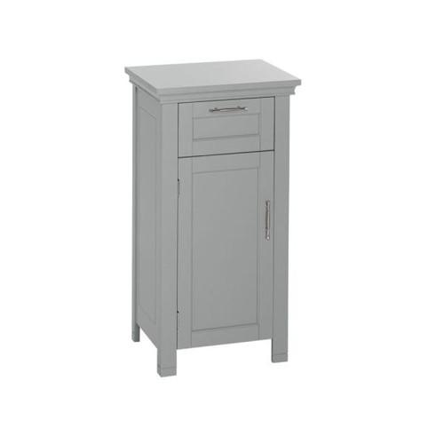 RiverRidge Home Somerset 16 in. W x 30 in. H x 12 in. D Bathroom Linen Storage Floor Cabinet in Gray