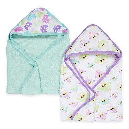 Miracle Blanket Butterfly & Owl 2-Pack Muslin Hooded Towel