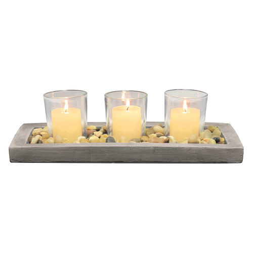 Stonebriar Collection Votive Candle Garden 4-piece Set
