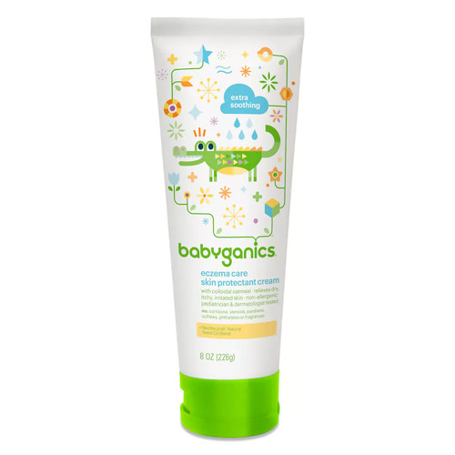 Babyganics Eczema Care Skin Protectant Cream, 8 oz, Packaging May Vary [8 Ounce (Pack of 1)]