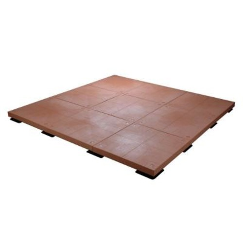 UDECX 10 ft. x 10 ft. 100 sq. ft. Red Cedar Patio Deck Starter Kit