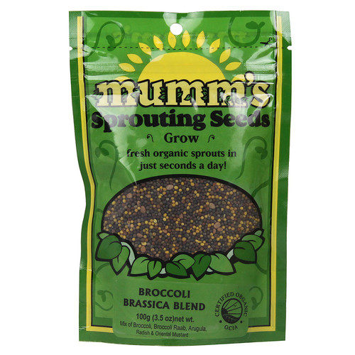 Mumm's Organic Sprouting Seeds Broccoli Brassica Blend -- 3.5 oz