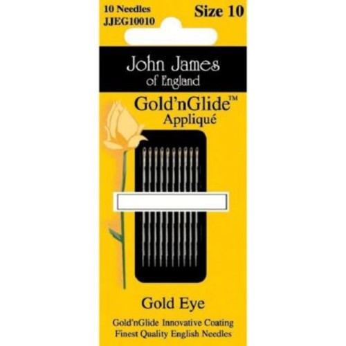 Gold'n Glide Applique Hand Needles; Size 11, 10/Pkg