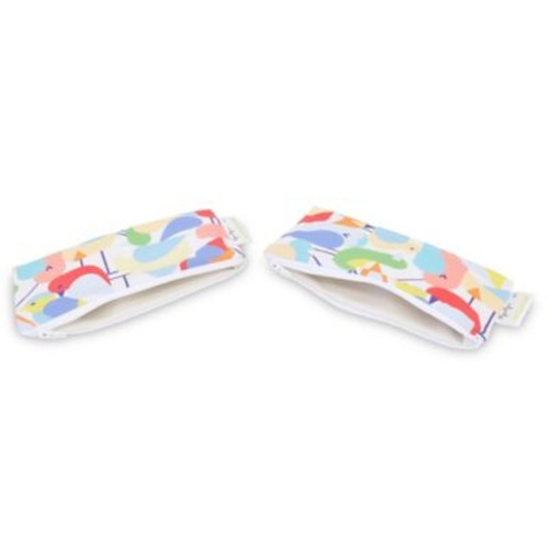 Itzy Ritzy Snack Happens 2-Pack Reusable Mini Snack and Everything Bag in Robin Hood