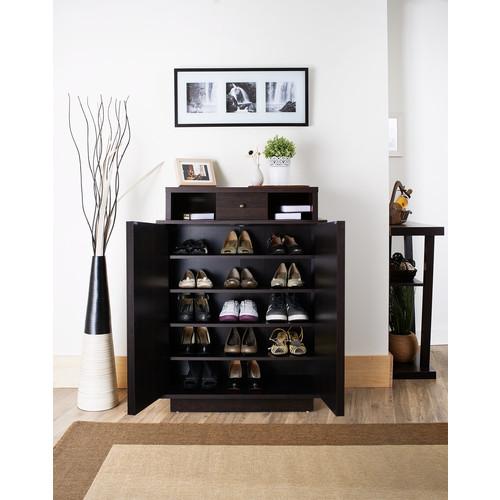 Furniture of America Espresso Joels Modern Shoe Cabinet