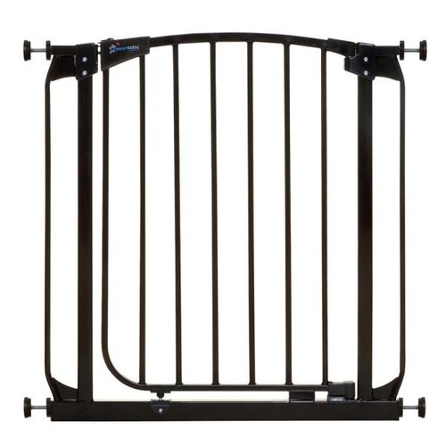 Dreambaby Chelsea 29.5 in. H Standard Height Auto-Close Security Gate in Black