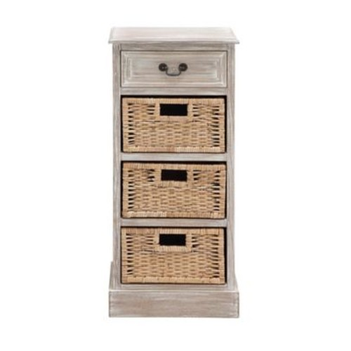 Cole & Grey 1 Drawer Wood Chest