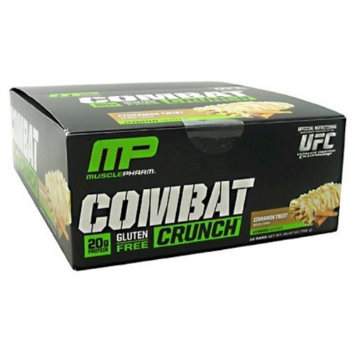 Muscle Pharm Combat Crunch Protein Bar - Cinnamon Twist - 12ct