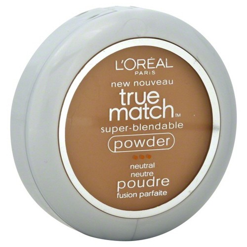 L'Oreal True Match Super-Blendable Powder, Neutral, Classic Tan N7, 0.33 oz (9.5 g)
