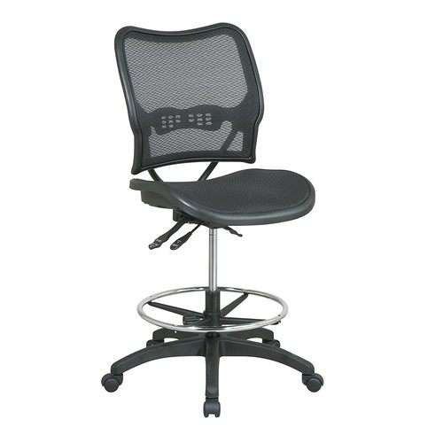 Office Star Deluxe Ergonomic AirGrid Seat and Back Drafting Chair # 13-77N30D
