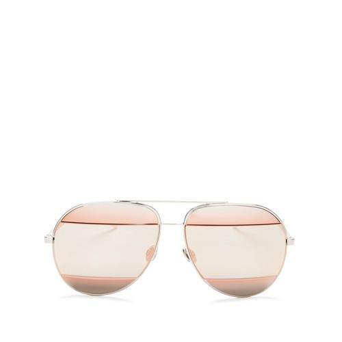 DIOR Split Mirrored Aviator Sunglasses, 59Mm