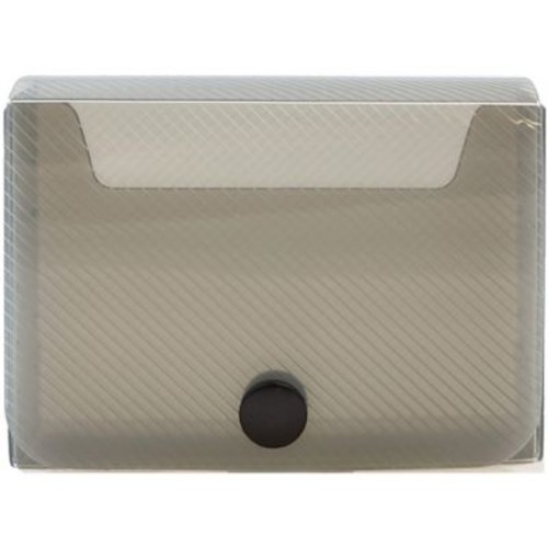 JAM Paper Large Business Card Holder, 2.25 x 3.25 x 1, Smoke, Sold Individually (245232765)