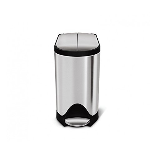 simplehuman Butterfly Step Trash Can, Stainless Steel, 10 L / 2.6 Gal [Stainless Steel]