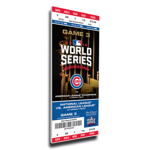 2016 World Series Champions Chicago Cubs Game 3 Mega Ticket