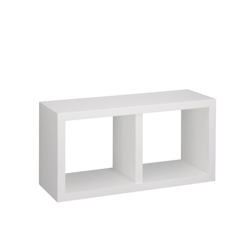 Honey Can Do Outdoor Storage Sheds & Boxes White double cube wall shelf
