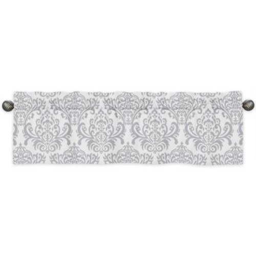 Sweet Jojo Designs Skylar Window Valance in Grey/White