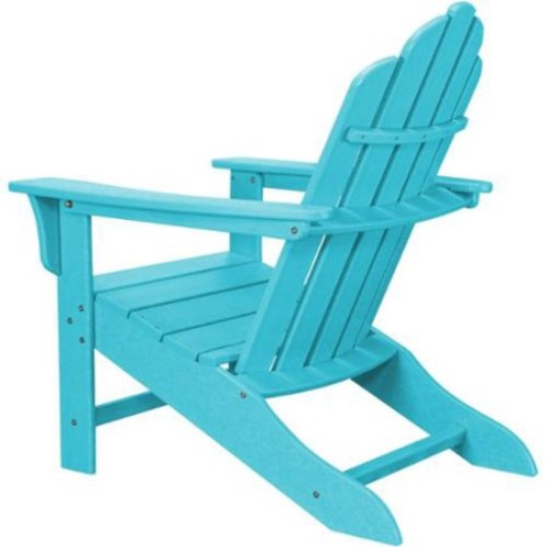Hanover Outdoor Blue Polyethylene All-weather Contoured Adirondack Chair